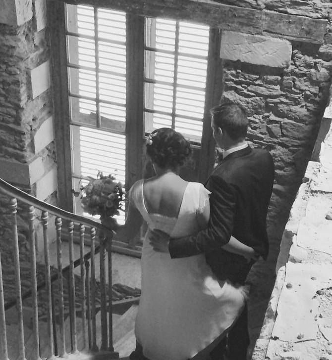 Premières photos de mariés dans les murs du Château du Haut Gesvres !
