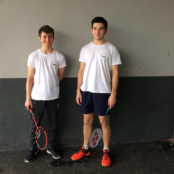 Hugo et Cédric (bénévoles) ...