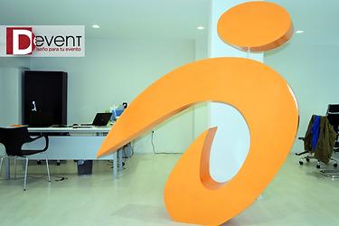 Logotipo Gigante Antevenio D-Event D Event DEvent Letras Gigantes 3D