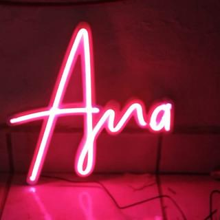 """Letrero con Luz Neón """" Ana """""""