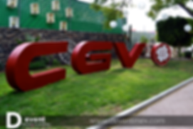 Logotipo Caja Gonzalo Vega Gigante D-Event D Event DEvent Letras Gigantes 3D