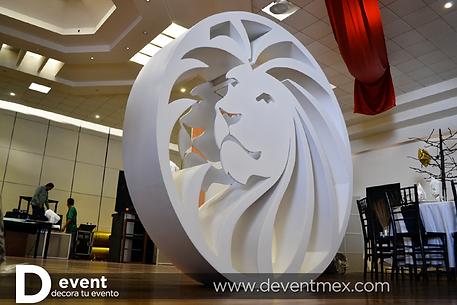 Logotipo Gigante Royal Prestige D-Event D Event DEvent Letras Gigantes 3D