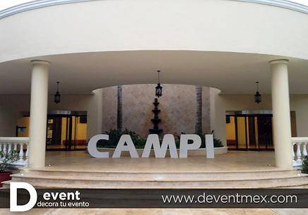 Logotipo Campi Gigante D-Event D Event DEvent Letras Gigantes 3D