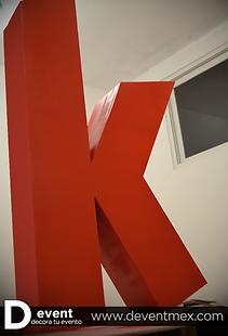 Logotipo Transportes K TransportesK Gigante D-Event D Event DEvent Letras Gigantes 3D