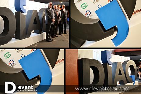 Logotipo Dia Q Diaq Gigante D-Event D Event DEvent Letras Gigantes 3D
