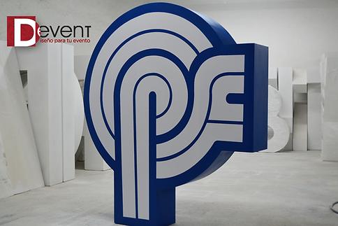 Logotipo Psicofarma Gigante D-Event D Event DEvent Letras Gigantes 3D