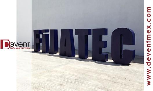 Logotipo Gigante Fijatec DEvent Letras Gigantes 3D