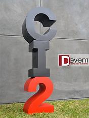 CI2 C Integra 2 Logotipo Jeep Gigante D-Event D Event DEvent Letras Gigantes 3D