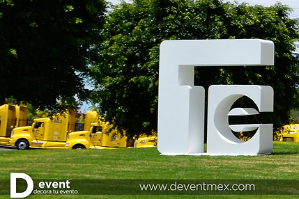 Logotipo Transportadora Egoba Gigante D-Event D Event DEvent Letras Gigantes 3D