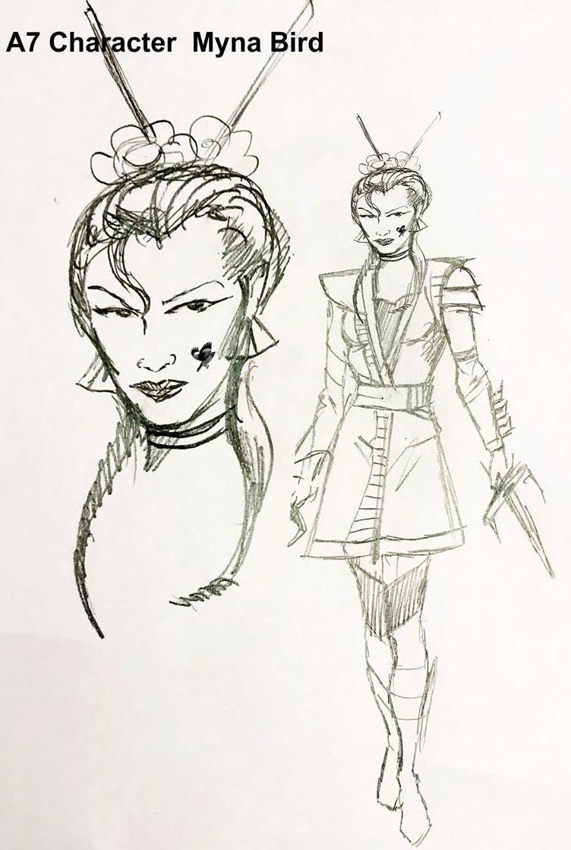 A7_ Character _ Asia Kim _ Mina Bird