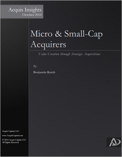 Micro & Small Cap Acquirers