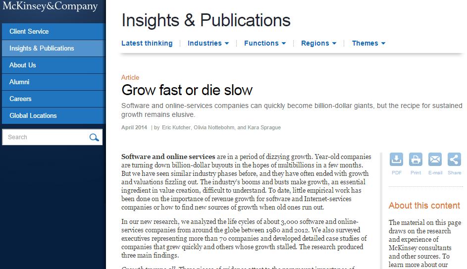 Grow Fast or Die Slow