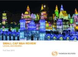 Small Cap M&A Legal Review