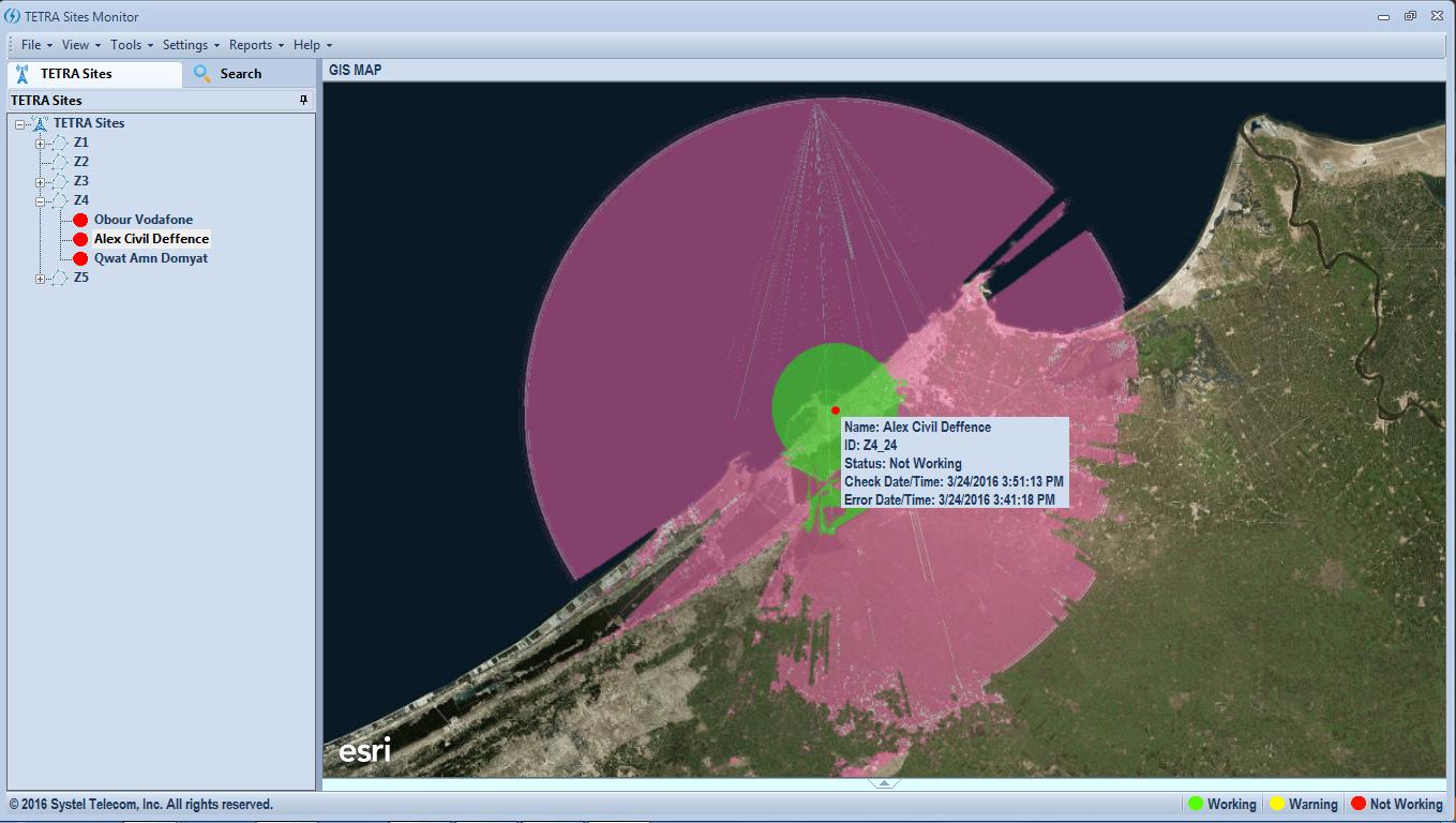 TETRA Sites Monitoring Application 2