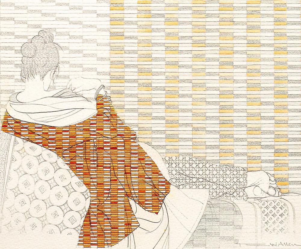 RW Allen, 20.991 (detail), Pencil, coloured pencil and watercolour  © RW Allen