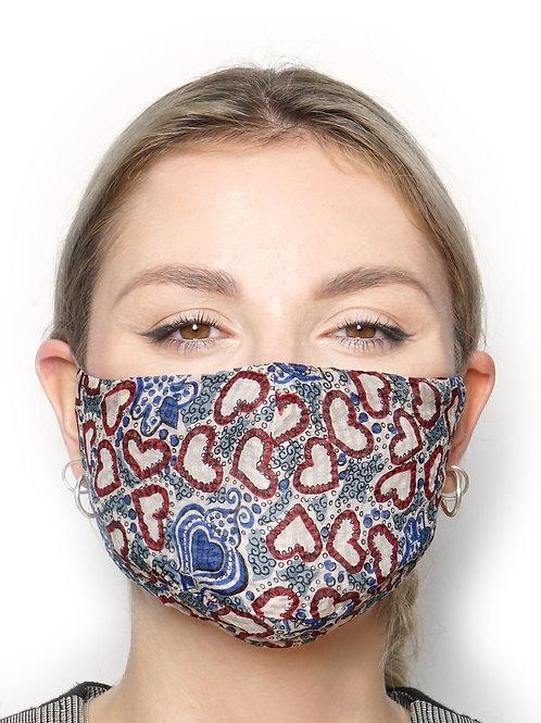 Cuori - Silk Face Mask