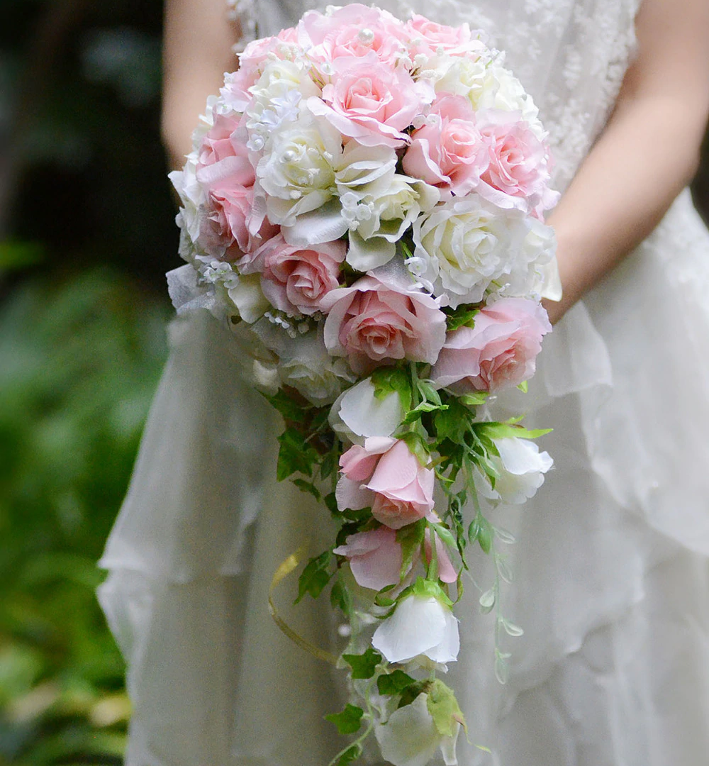 pink-white-Vintage-Artificial-Flowers-Wa