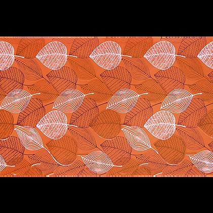 Inserto 25x40 Aquarela Hojas Naranja
