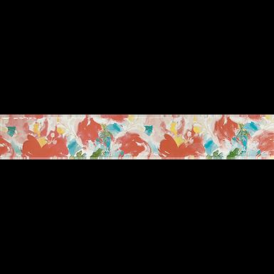 Listelo 6x39.5 Aquarela Flores Coral