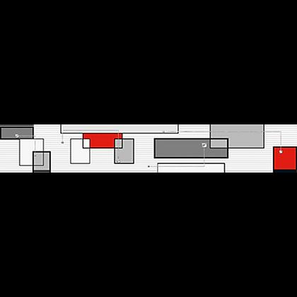 Listelo 6x39.5 Kuadral