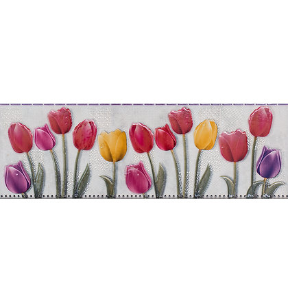 Listelo Tulipanes 45x15 cm