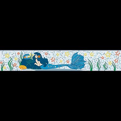 Listelo 6x39.5 Orión Azul Sirena
