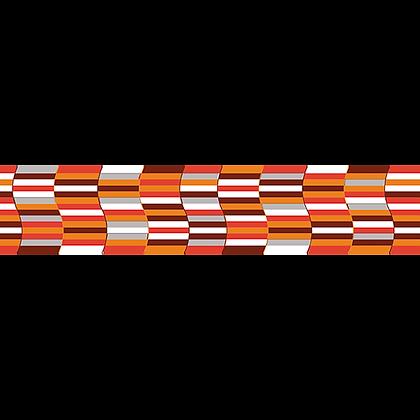 Listelo 8x39.5 Caracol Rojo