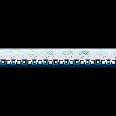 Listelo 6x39.5 Cristel Azul