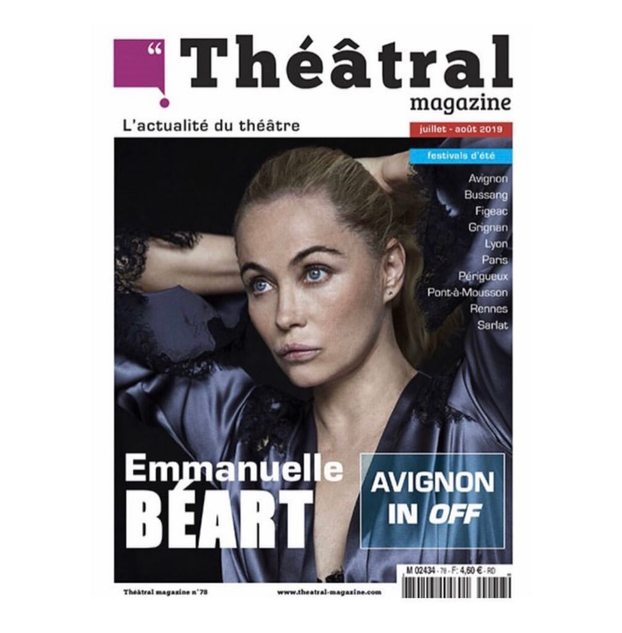 Emmanuelle Béart for Théâtral Magazine by Sylvie Castioni