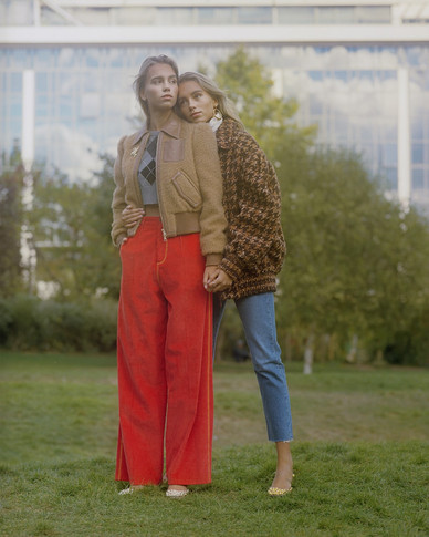Lisa & Lena for Vogue Germany By Alexandre Haefeli
