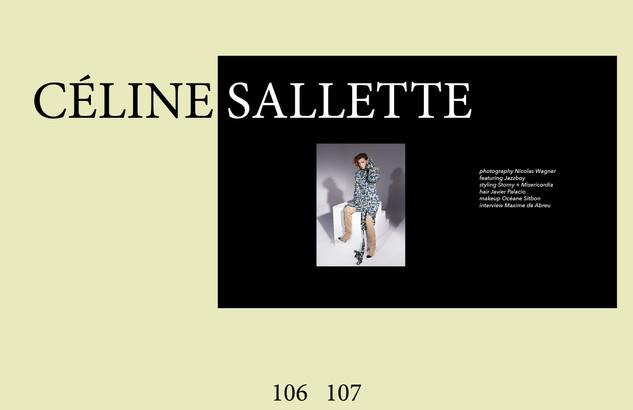 Céline Sallette for CRUSHfanzine Sept 2019 by Nicolas Wagner
