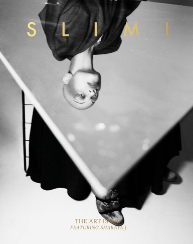 "Slimi Mag ""The Art Issue"" Cover X Sharaya by Urivaldo Lopes"