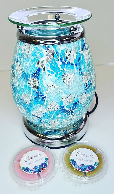Teal Mosaic Touch Burner (Electric)