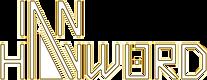 Ian Hayword Logo White Neon Yellow Glow.