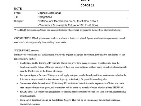 Leaked doc reveals EU proliferation plans