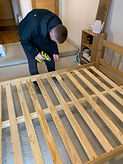 spindle wood beds