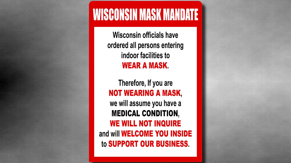 Wisconsin Mask Mandate Vinyl Decal