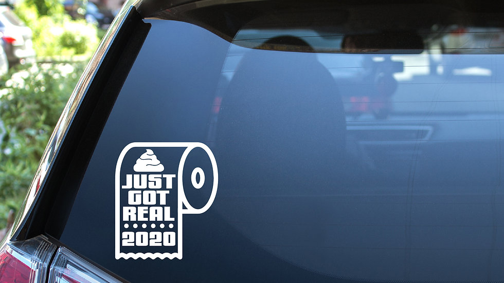 Sh*t Just Got Real Vinyl Decal