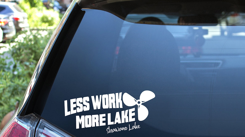 Less Work More Lake Vinyl Decal