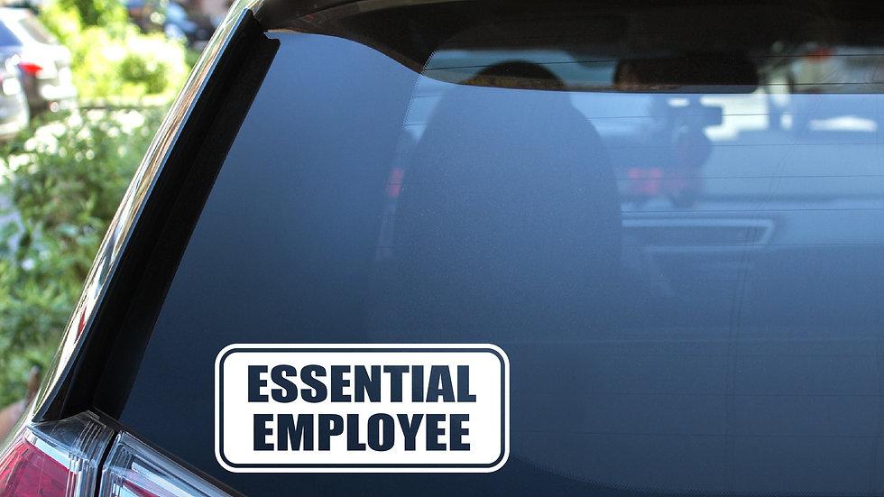 Essential Employee Vinyl Decal
