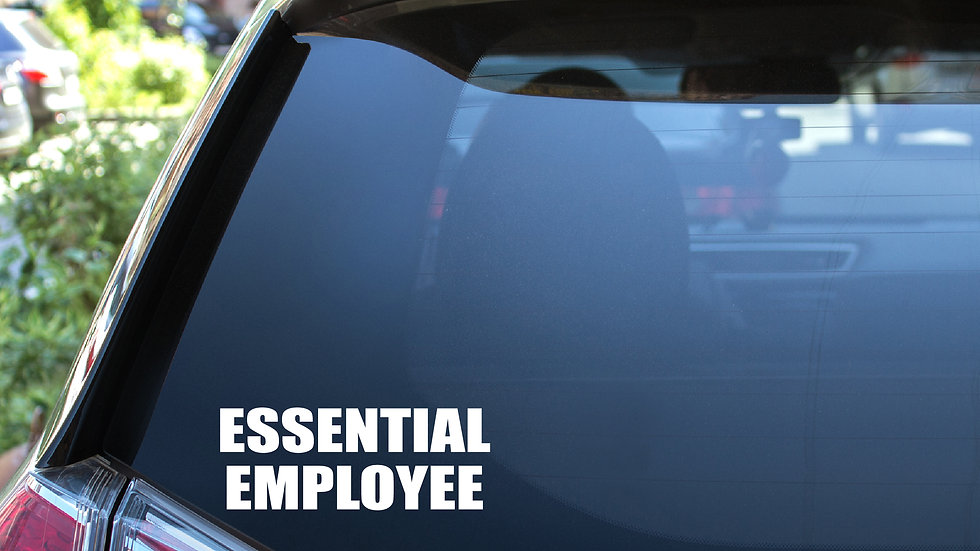 Essential Employee 2 Vinyl Decal