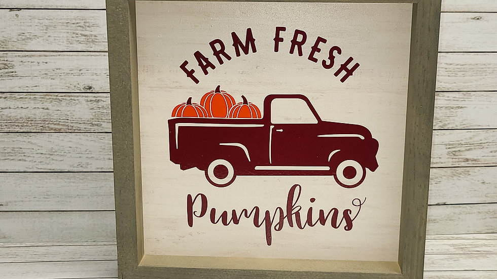 Farm Fresh Pumpkins Wooden Sign