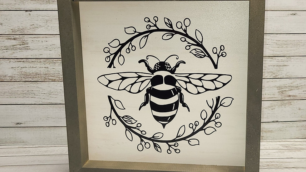 Bee-Utiful Wooden Sign
