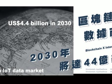 區塊鏈IoT數據市場2030將達44億美元