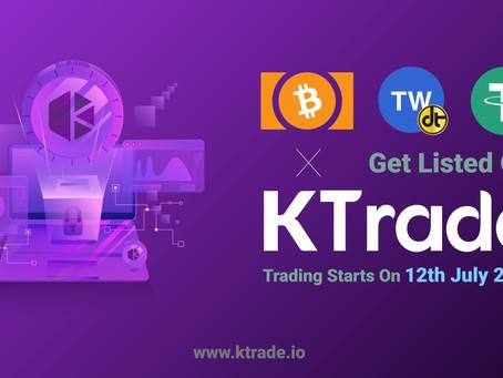 KTrade即將開放TWDT-ETH、BCH、USDT交易