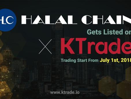 KTrade即將開放HLC(HALAL CHAIN)交易