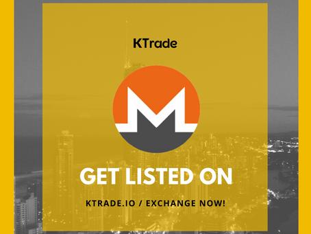 KTrade開放XMR(Monero)交易