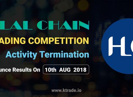 HLC競幣交易量大賽圓滿結束,8月10日公布得獎名單 / HLC Trading Competition Closed.