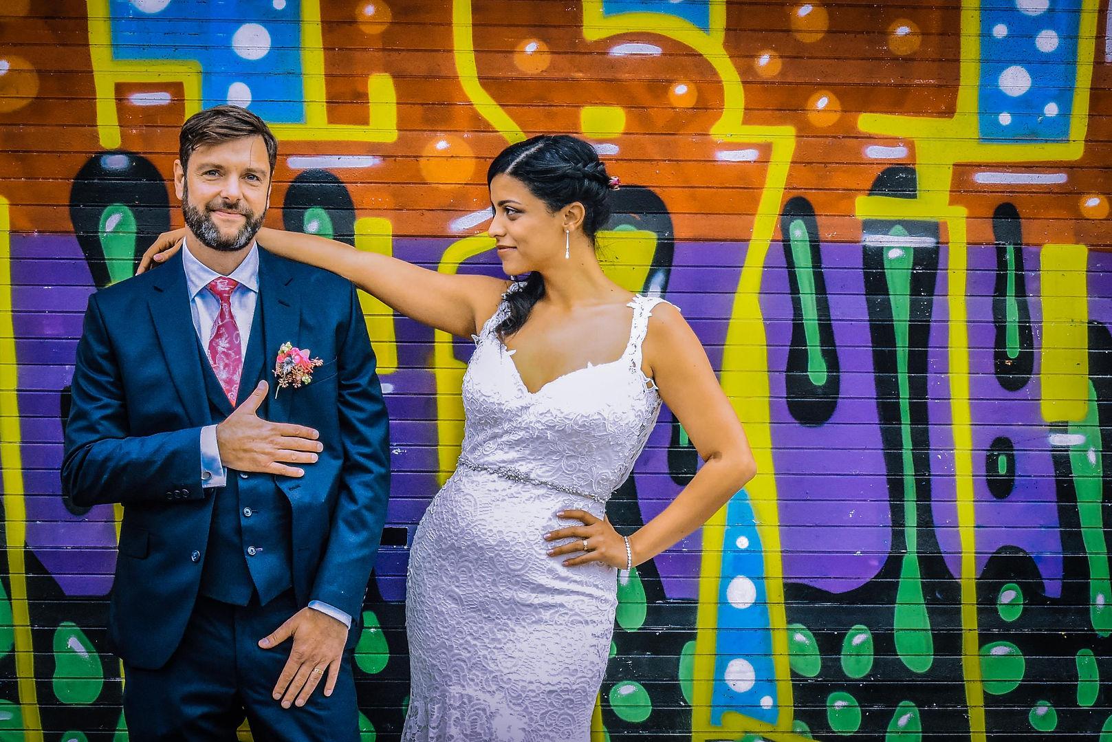 Graffiti Wedding photography, Brighton
