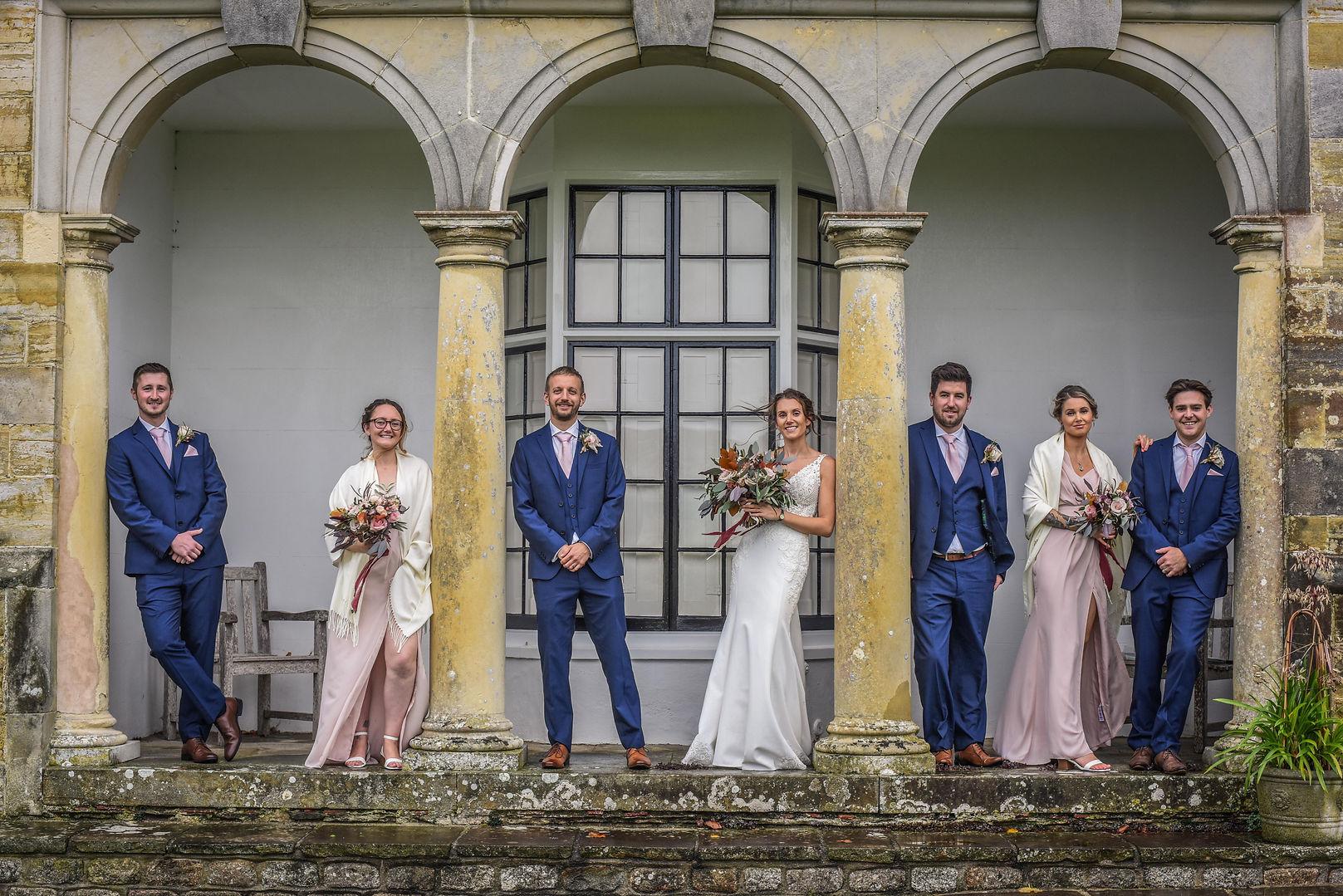 Bridal Party Handall Manor Barns